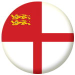 Sark Island Flag 58mm Mirror Keyring